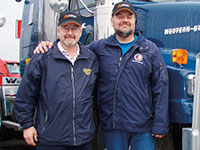 The Larabie brothers of Larbabie trucking contracted Ritchie Bros. to sell 150 trucks and trailers at the end of a large project.